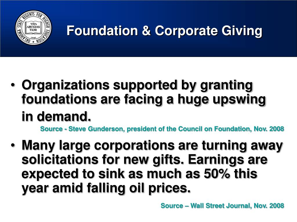 Foundation & Corporate Giving
