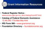 grant information resources