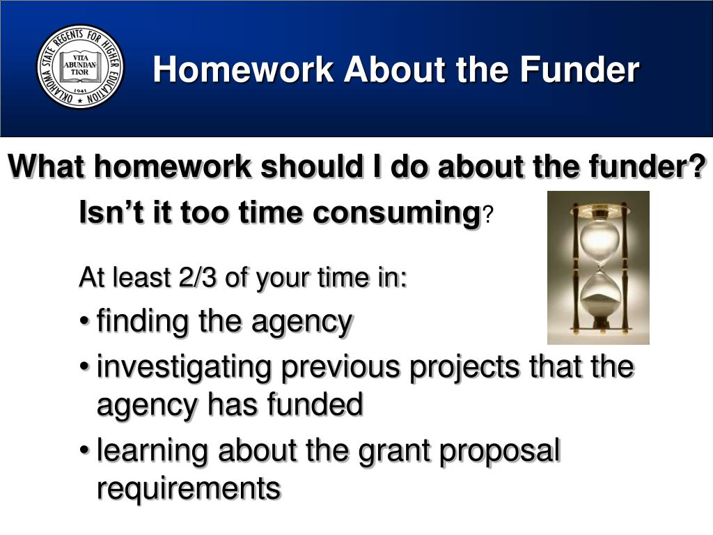 Homework About the Funder