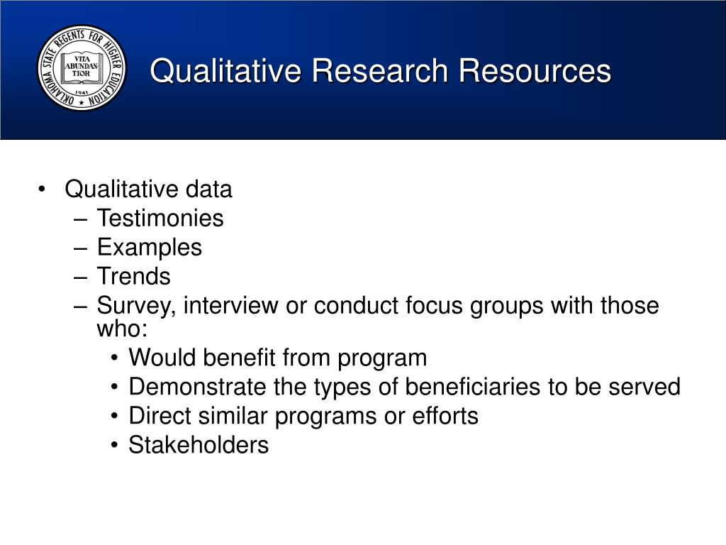 Qualitative Research Resources