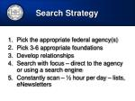 search strategy