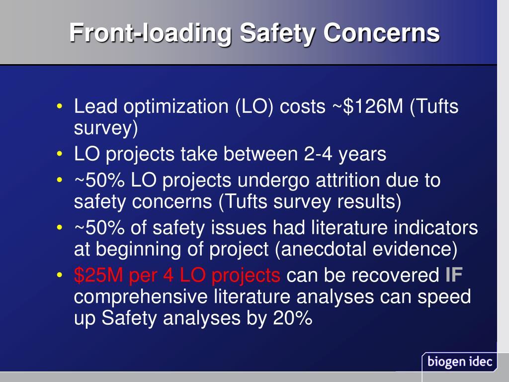 Front-loading Safety Concerns