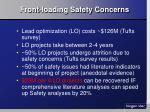 front loading safety concerns