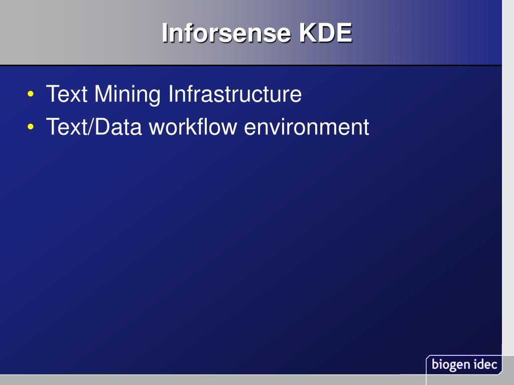 Inforsense KDE
