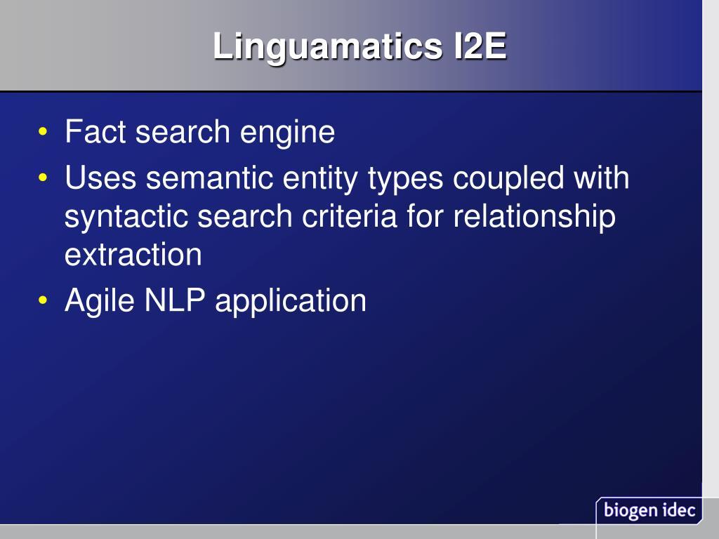 Linguamatics I2E