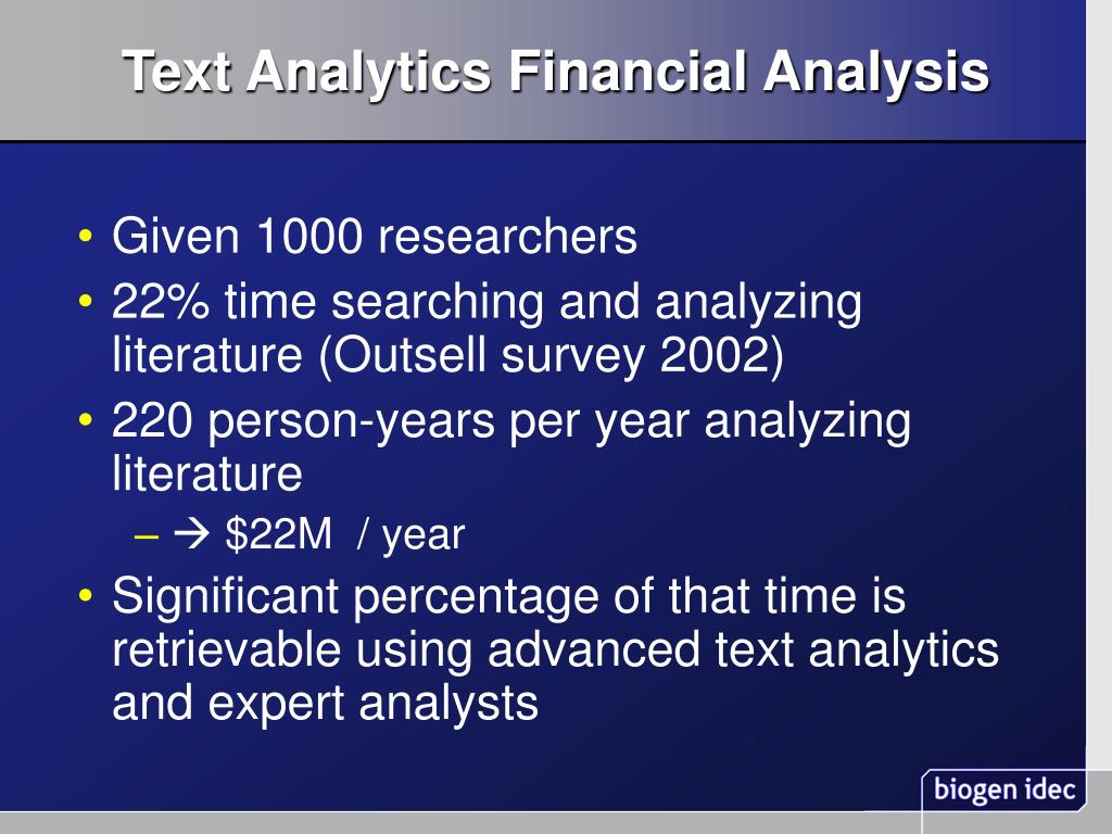 Text Analytics Financial Analysis