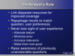 the analyst s role15