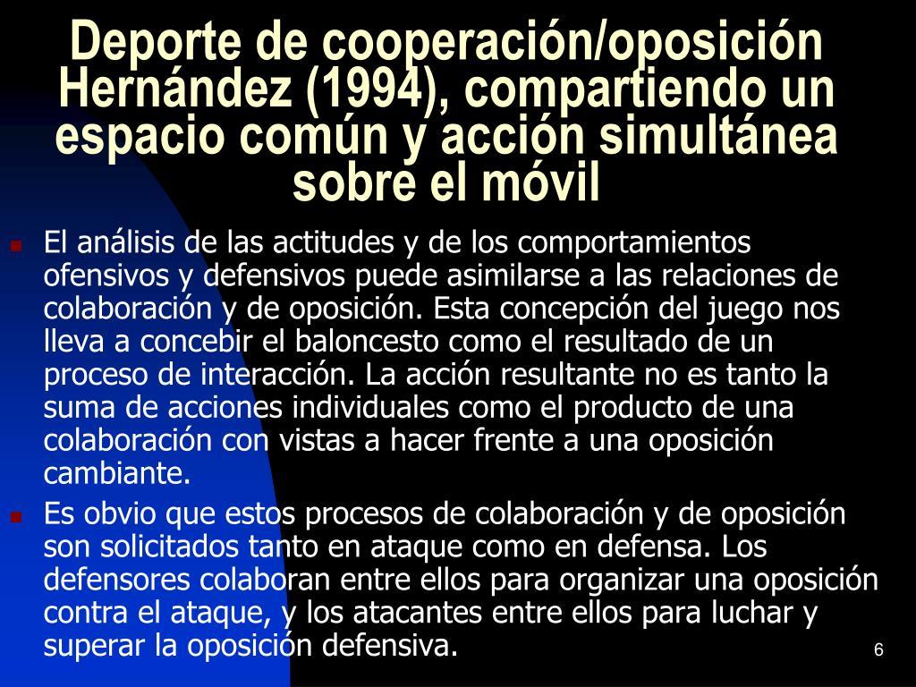 Deporte de cooperación/oposición