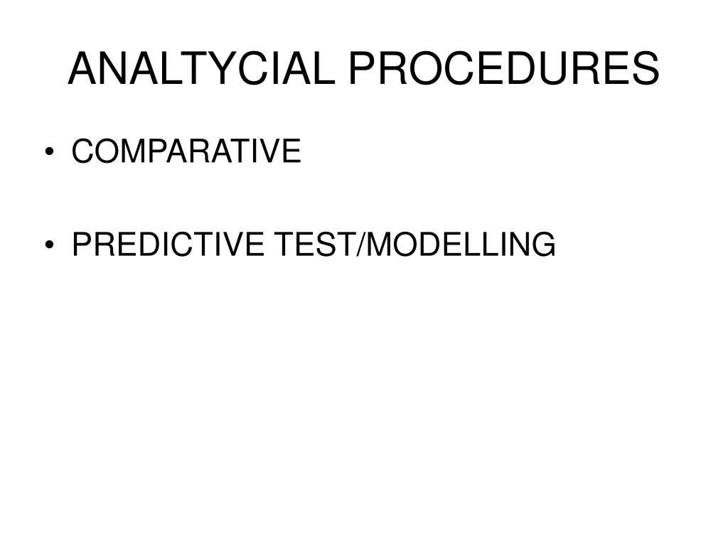 ANALTYCIAL PROCEDURES