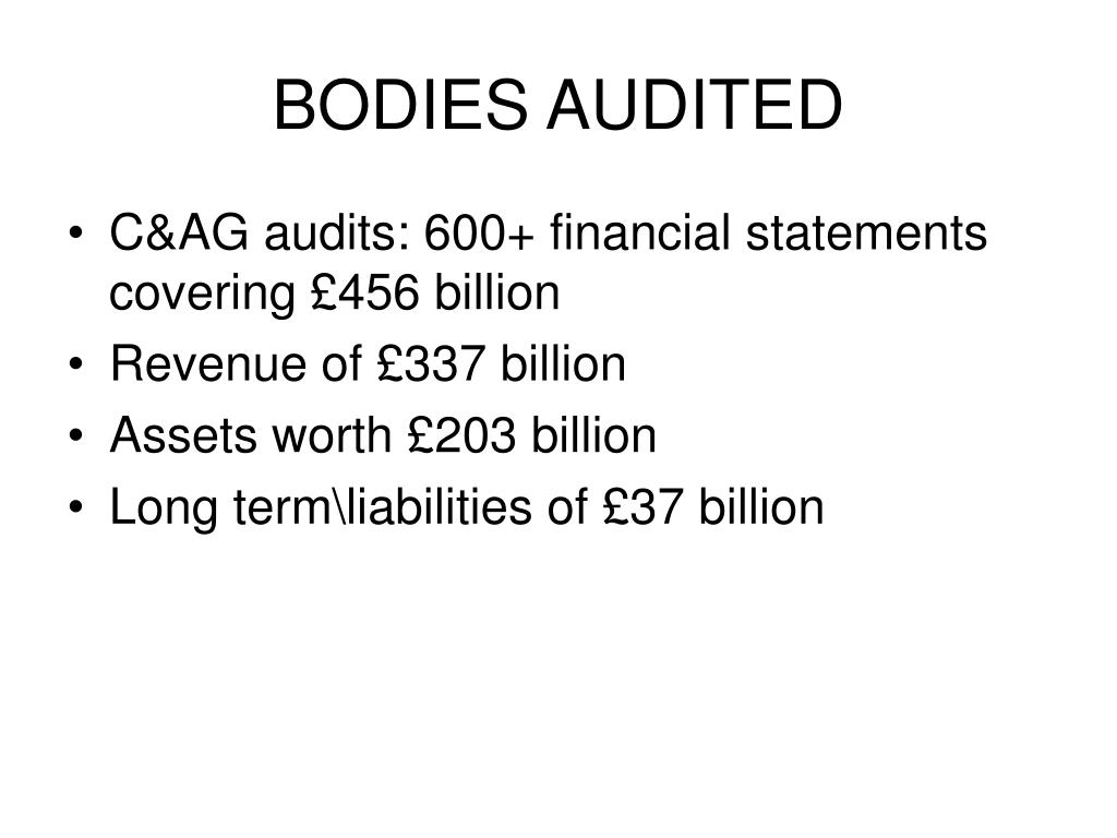 BODIES AUDITED