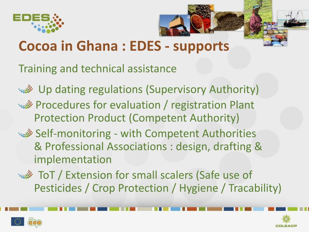 Cocoa in Ghana : EDES - supports