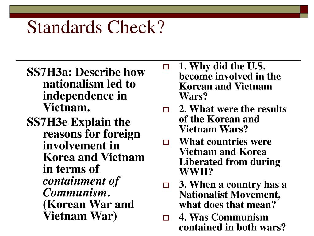 SS7H3a: Describe how nationalism led to independence in Vietnam.
