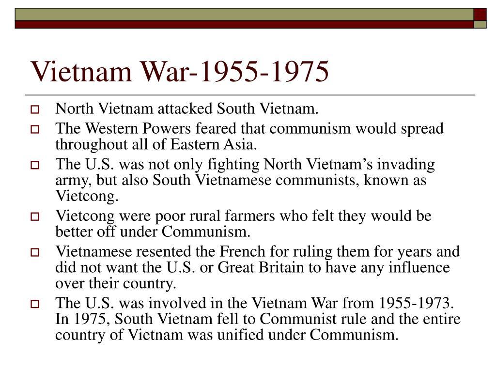 Vietnam War-1955-1975