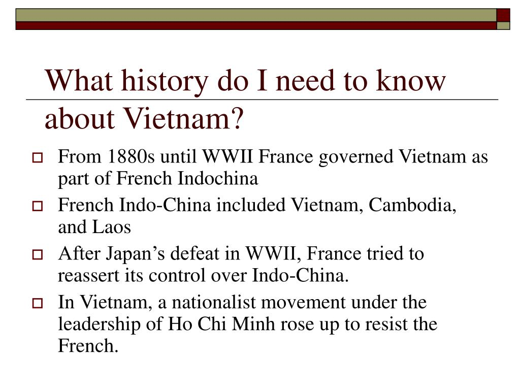 What history do I need to know about Vietnam?