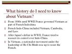 what history do i need to know about vietnam