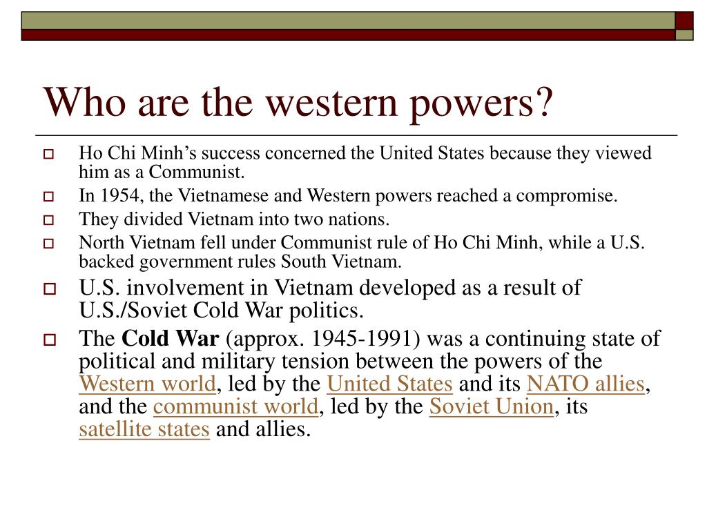 Who are the western powers?