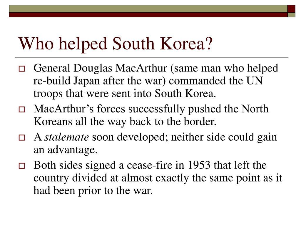 Who helped South Korea?