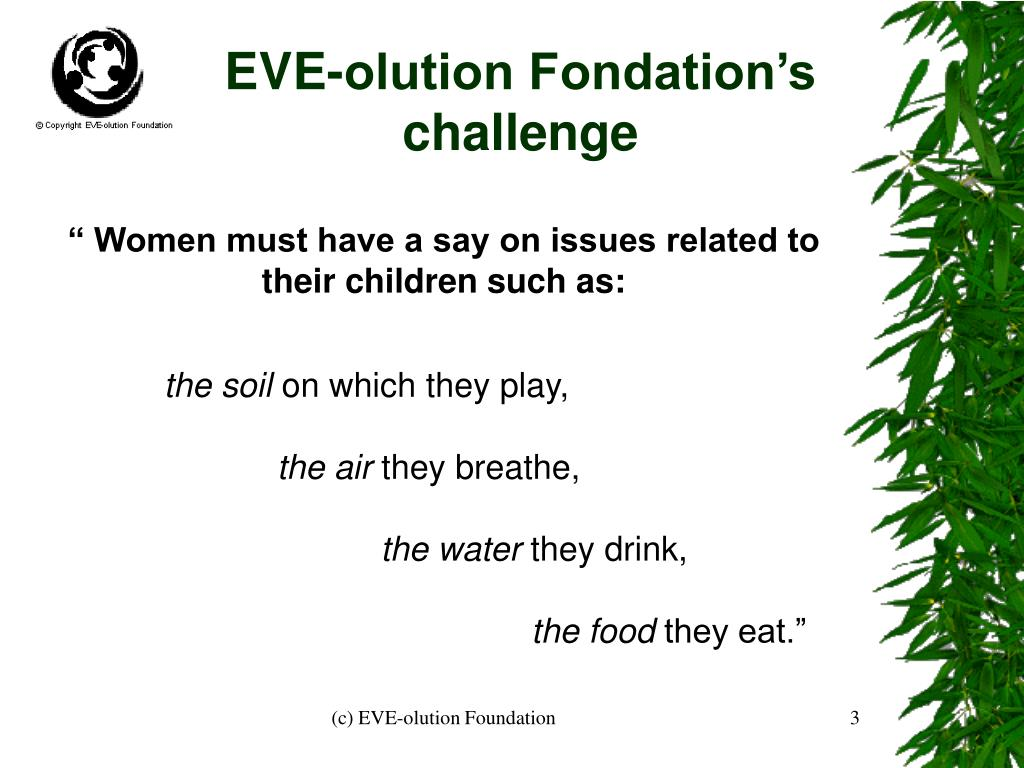 EVE-olution Fondation's