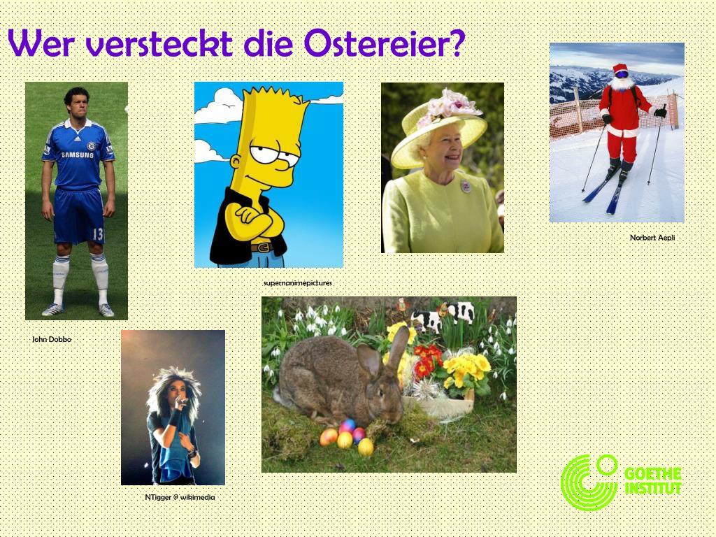 Wer versteckt die Ostereier?