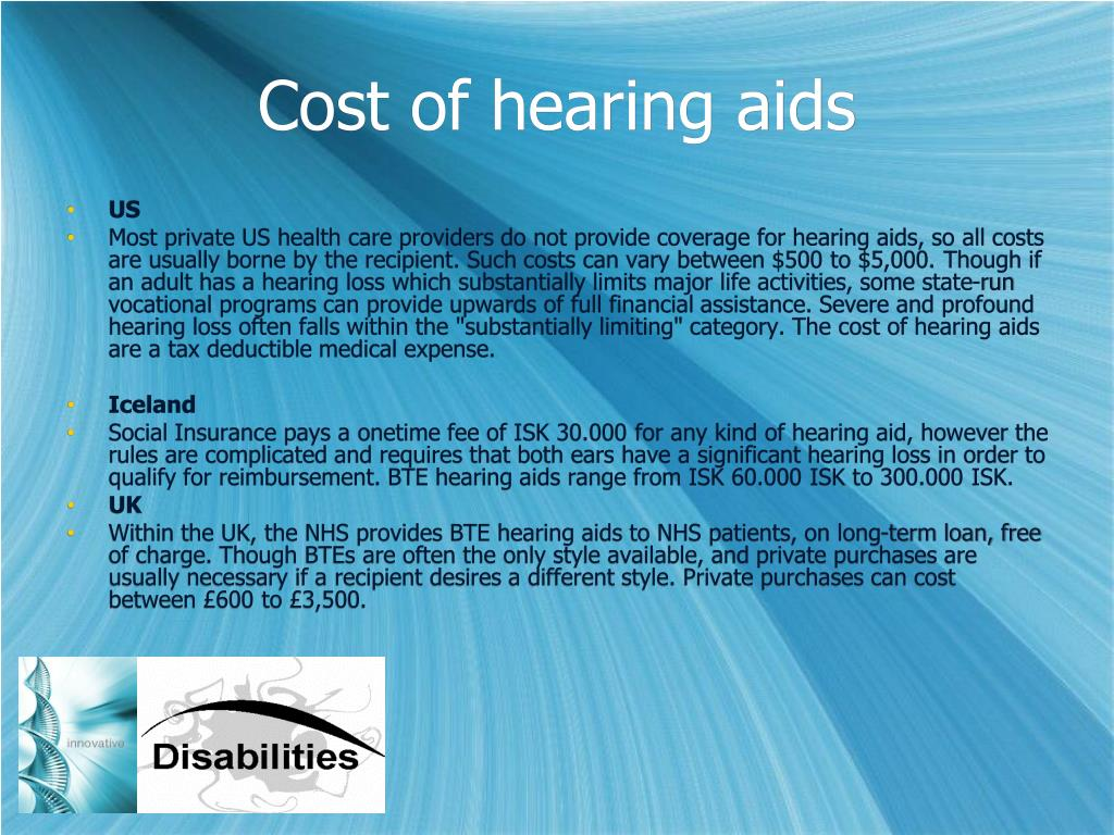 Cost of hearing aids