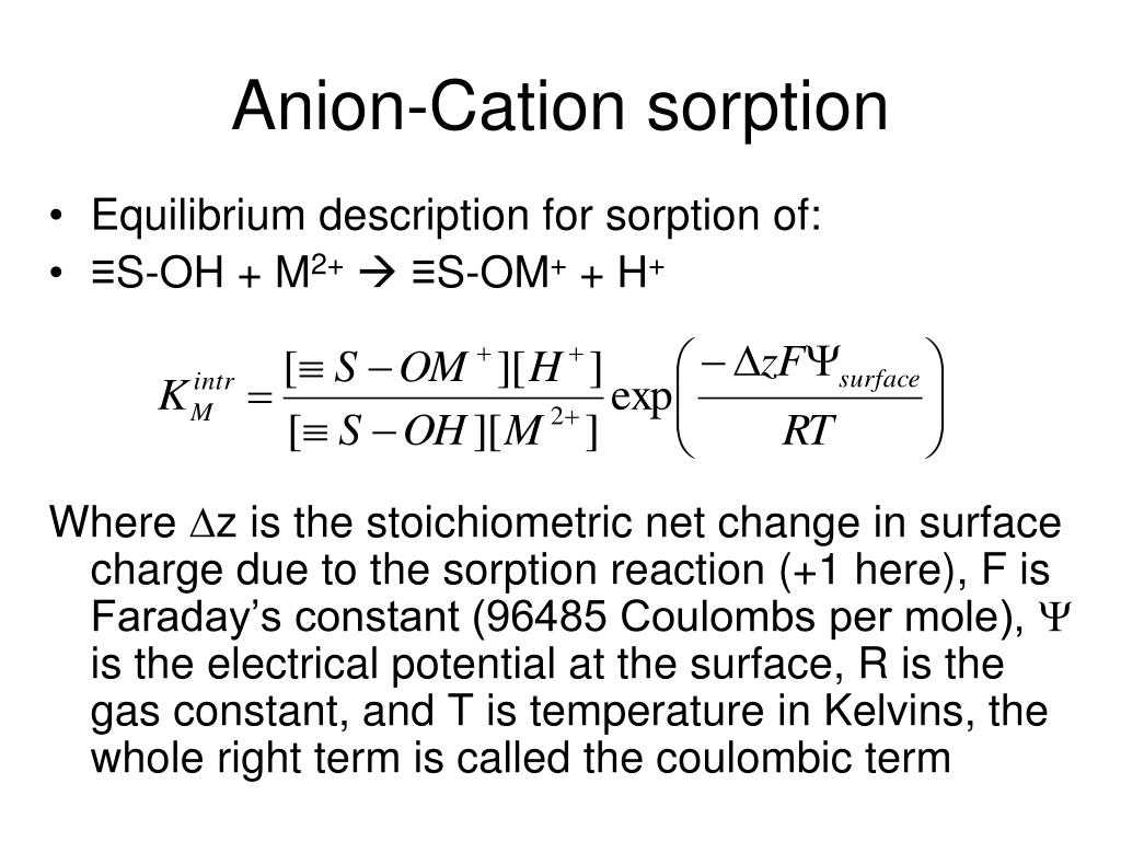 Anion-Cation sorption