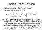 anion cation sorption