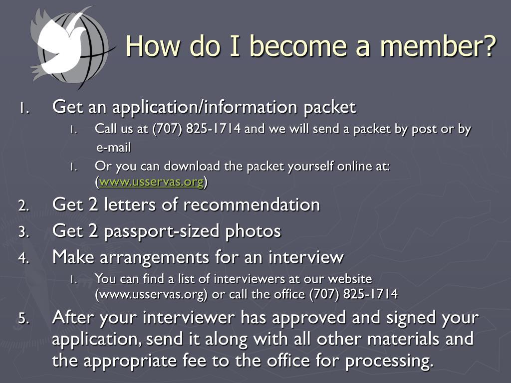 How do I become a member?