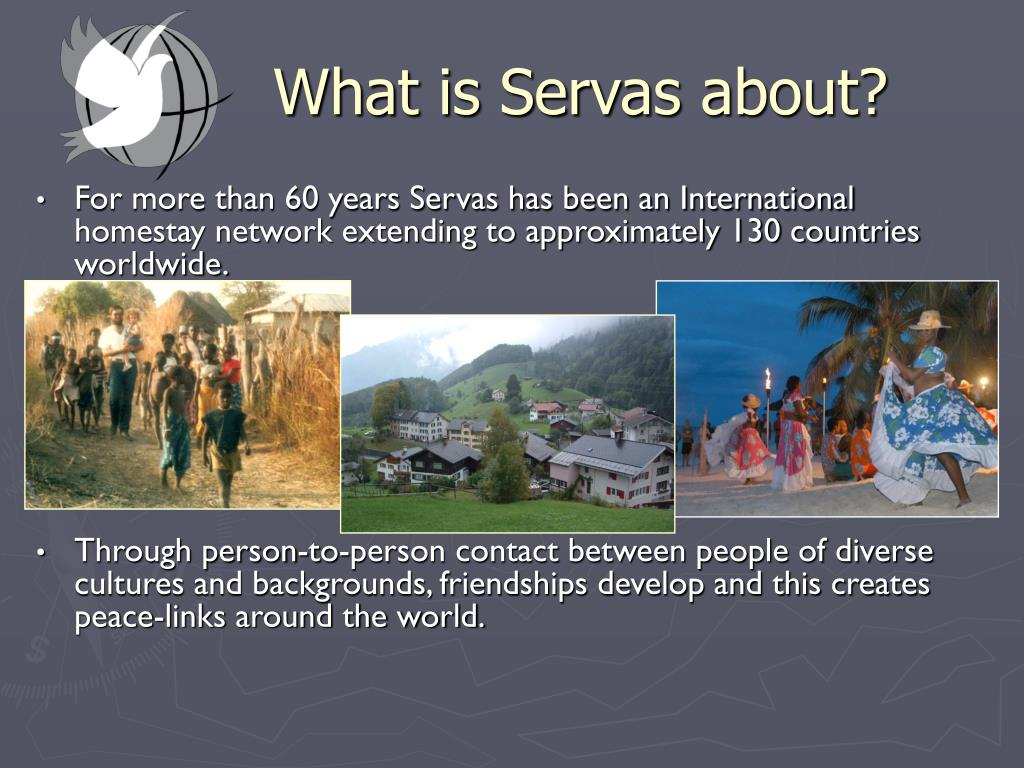 What is Servas about?