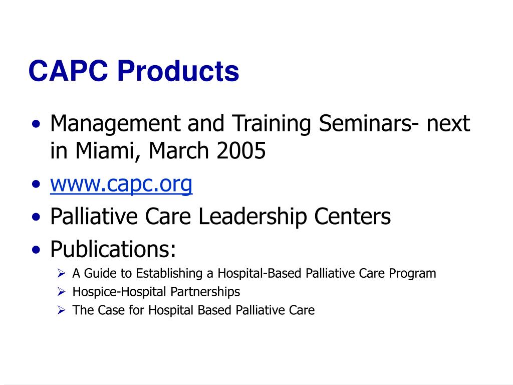 CAPC Products