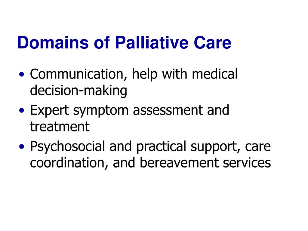 Domains of Palliative Care