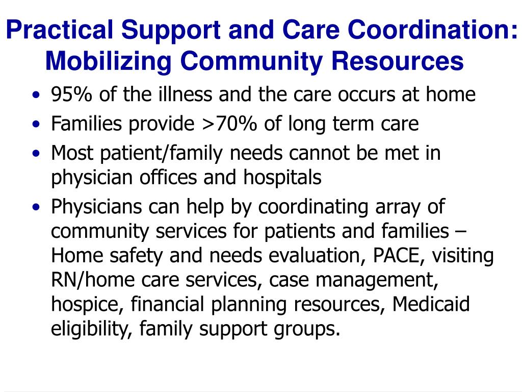 Practical Support and Care Coordination: