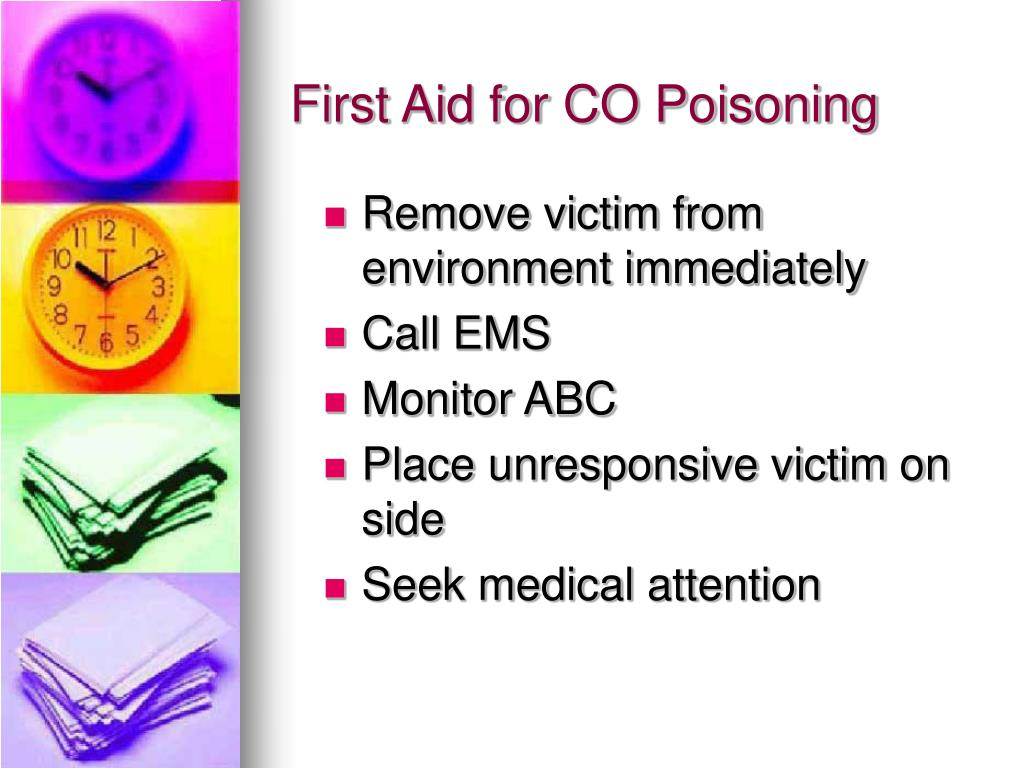 First Aid for CO Poisoning