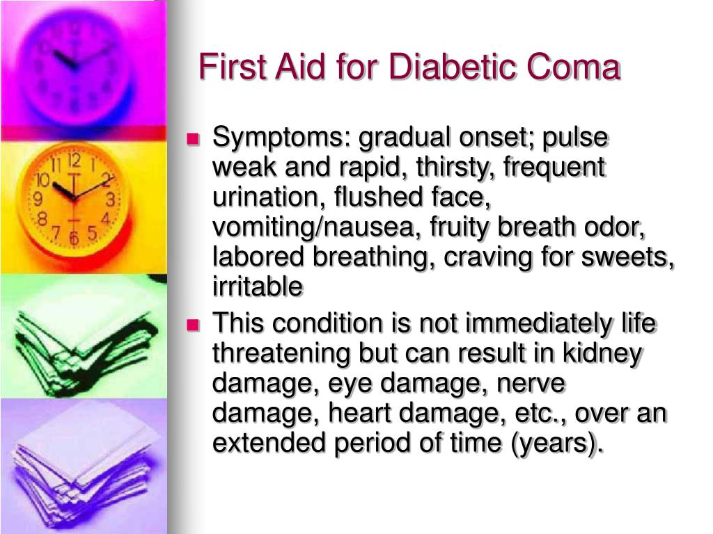 First Aid for Diabetic Coma
