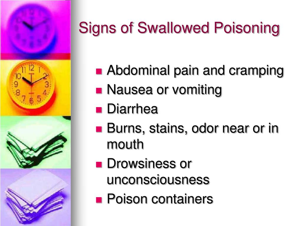 Signs of Swallowed Poisoning