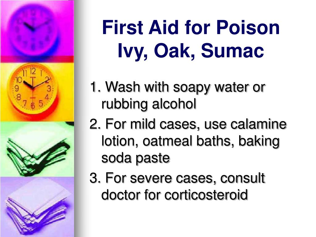 First Aid for Poison Ivy, Oak, Sumac