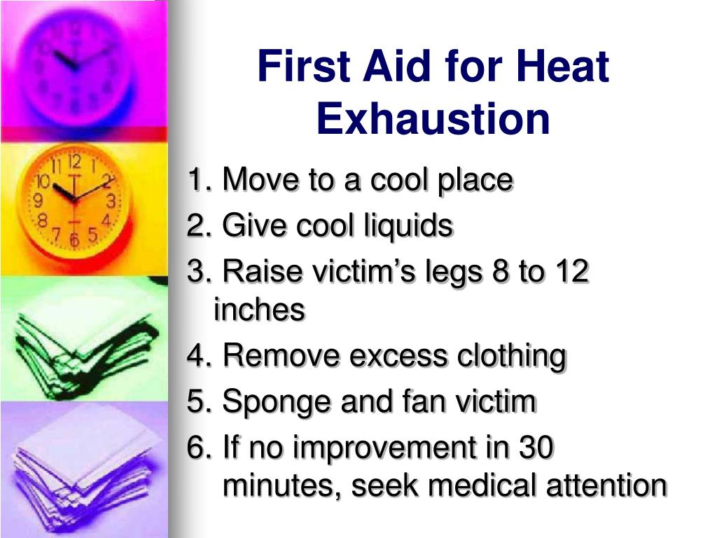 First Aid for Heat Exhaustion