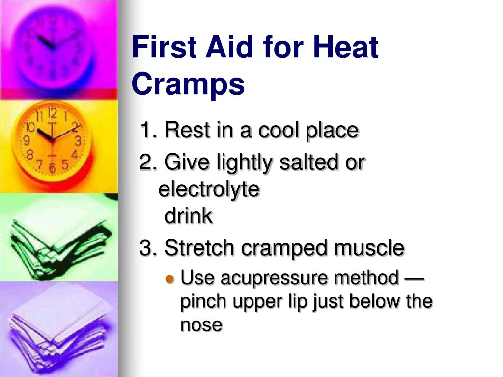 First Aid for Heat Cramps