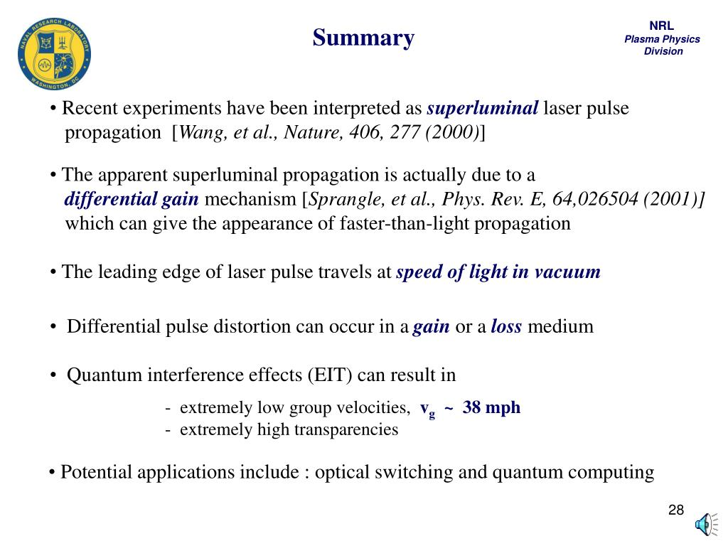 Quantum interference effects (EIT) can result in