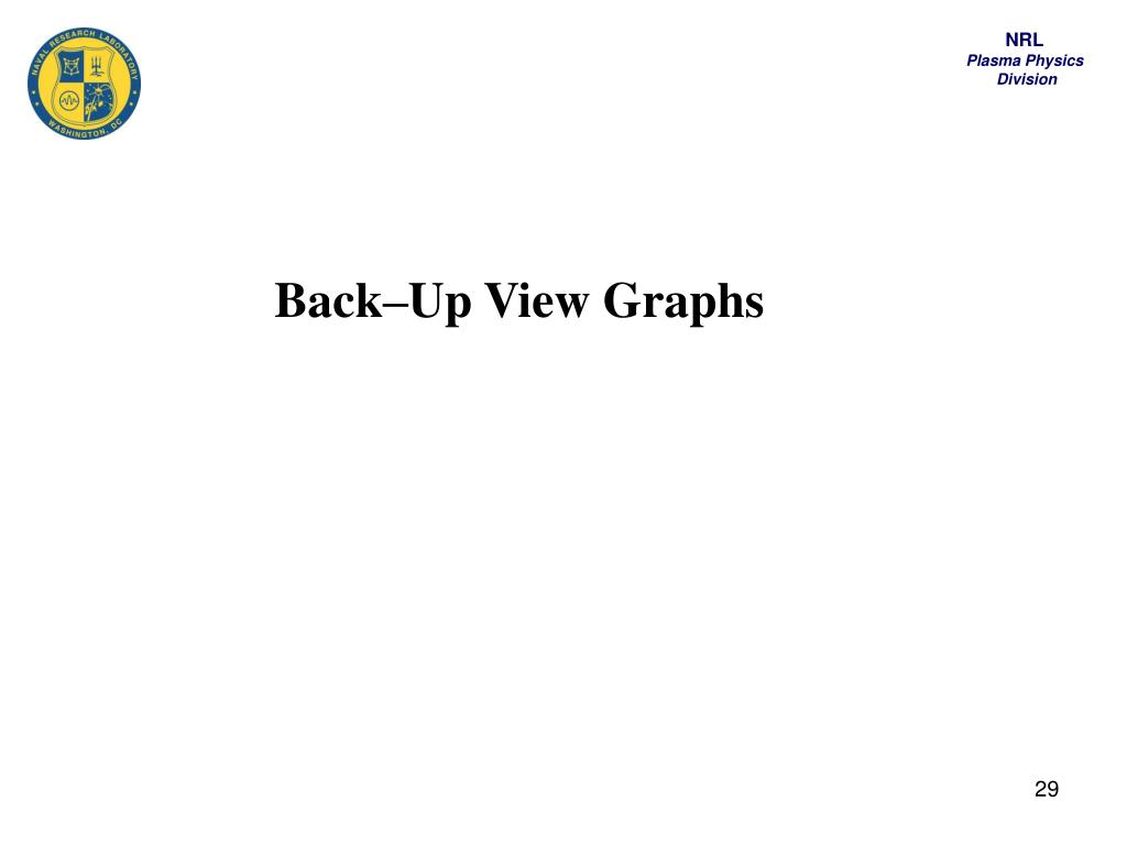 Back–Up View Graphs