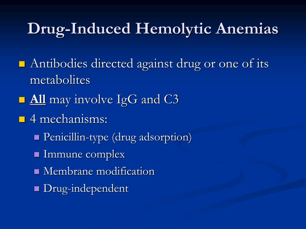 Drug-Induced Hemolytic Anemias