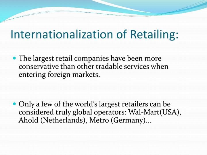 Internationalization of retailing