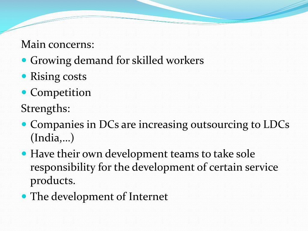 Main concerns: