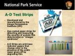 a d test strips
