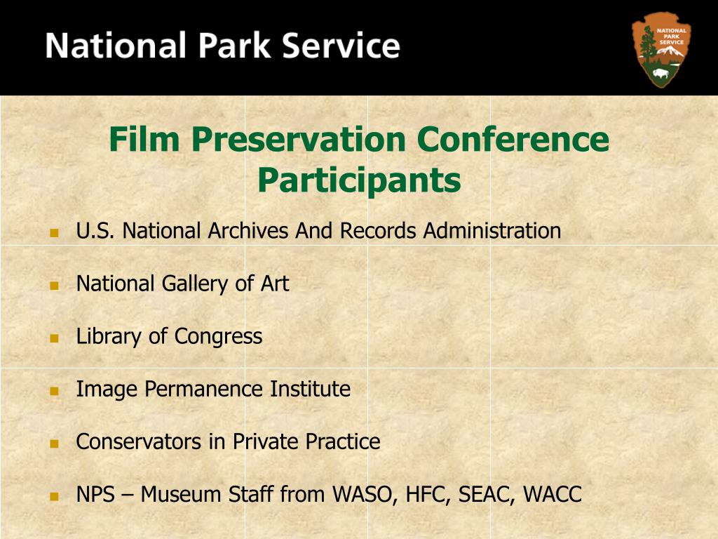 Film Preservation Conference Participants