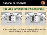 the long term benefit of cold storage