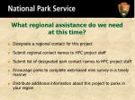 what regional assistance do we need at this time
