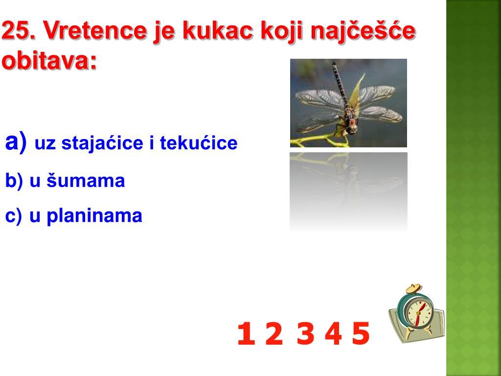 25. Vretence je kukac koji najčešće obitava: