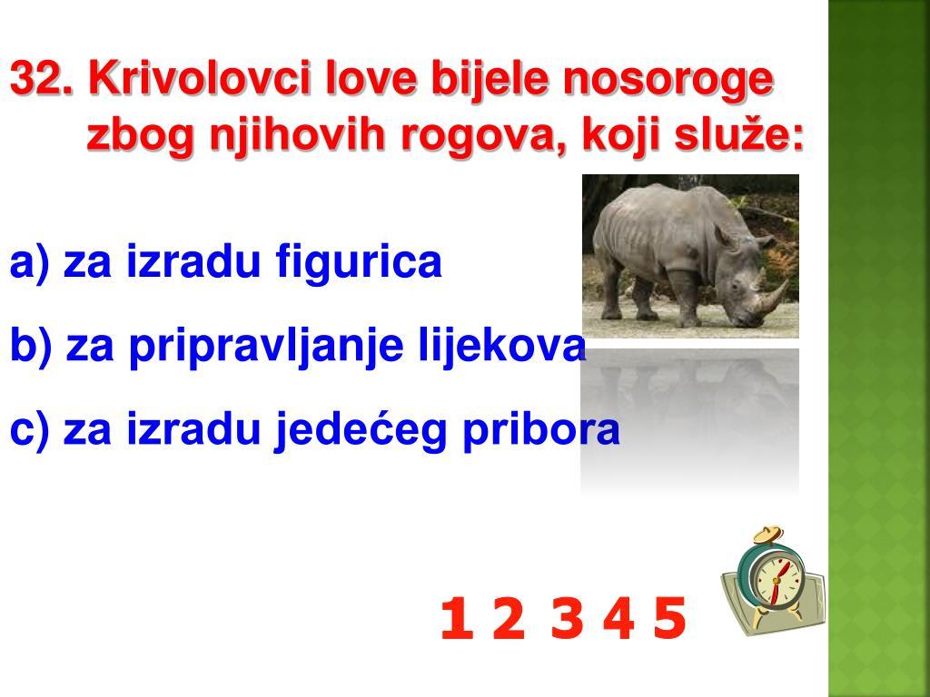 32. Krivolovci love bijele nosoroge