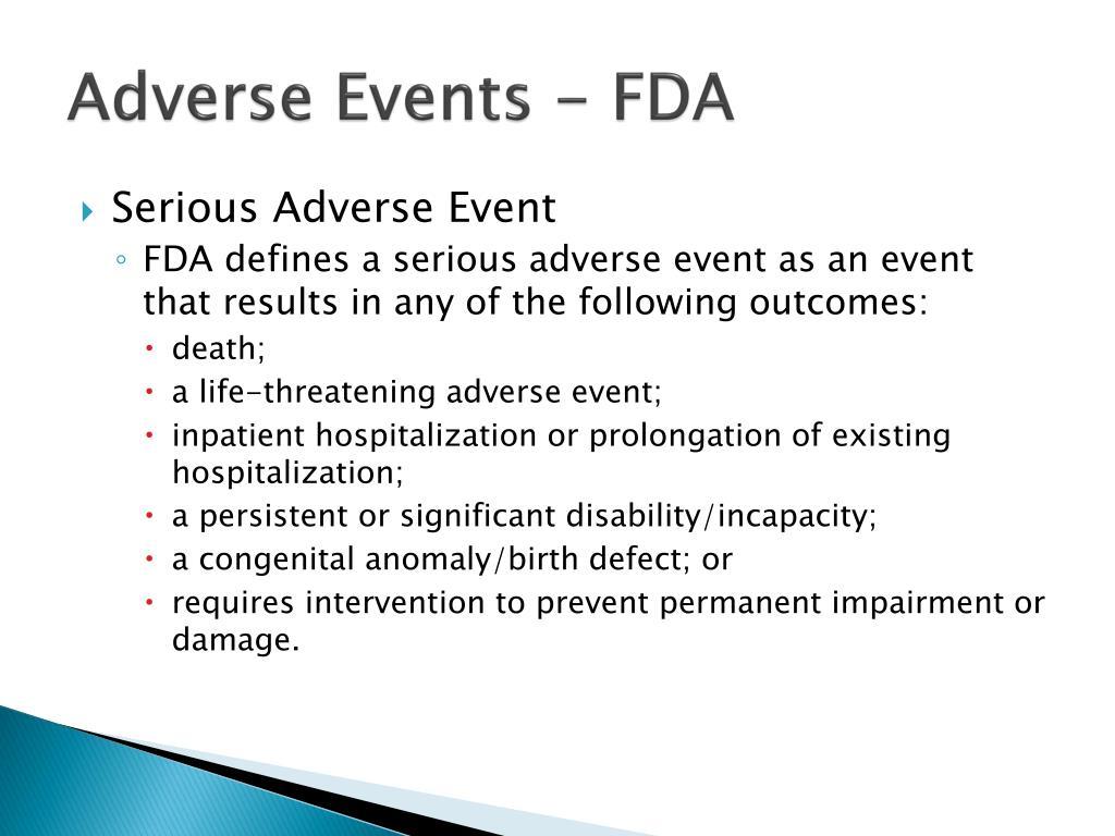 Adverse Events - FDA