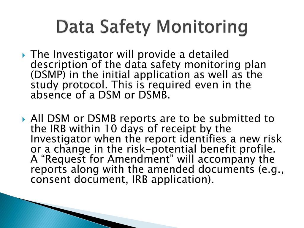 Data Safety Monitoring